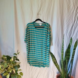 Lularoe Irma in Turquoise with stripes